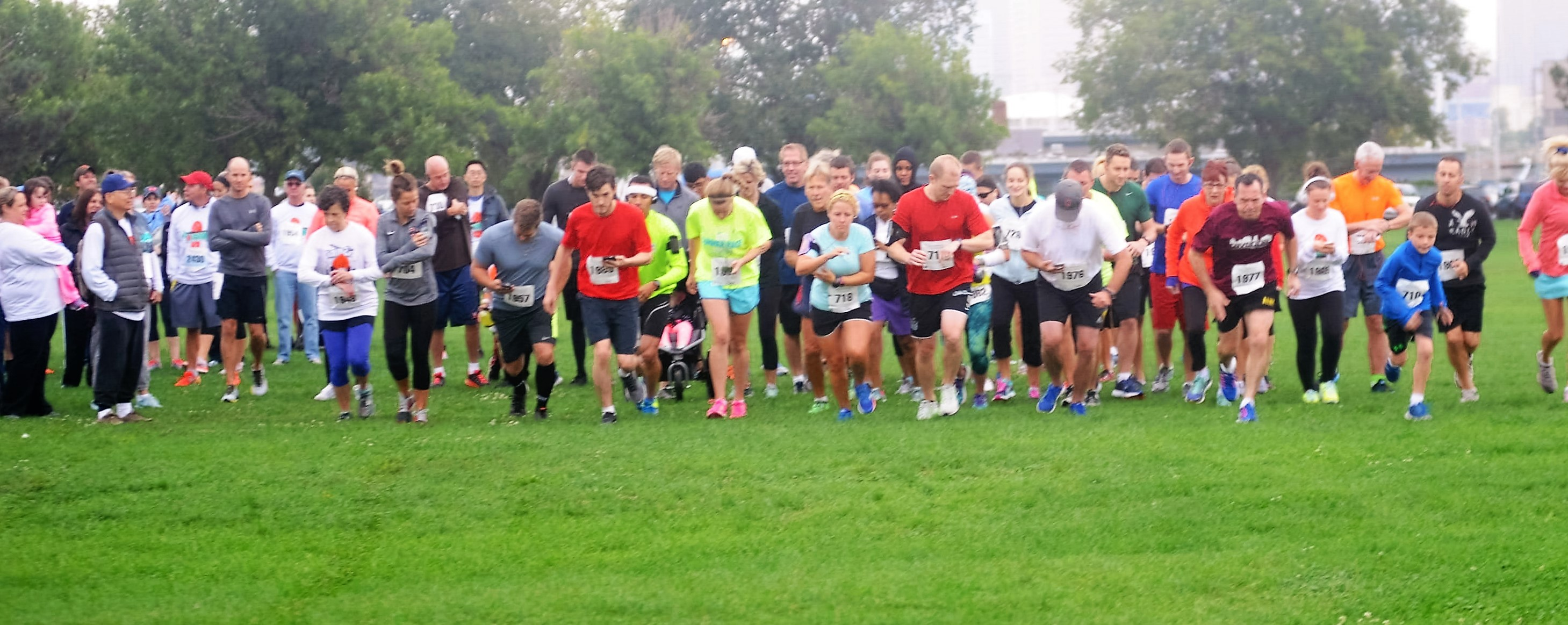 Great participation at the Smile & Dash run benefiting The Salvation Army