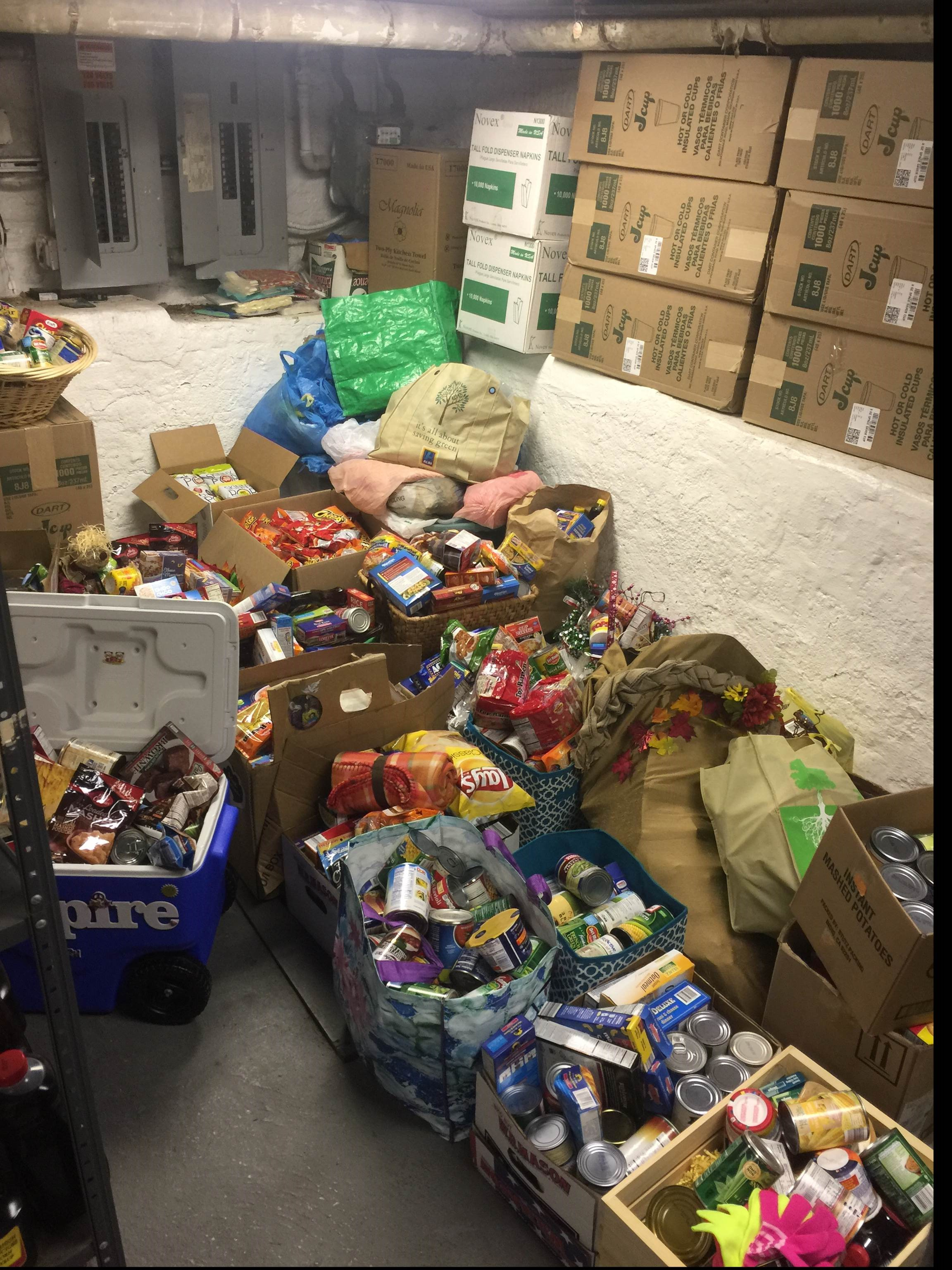 St Malachi's Back Door Ministry Food Drive 2016